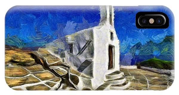 Chapel In Ios Island IPhone Case