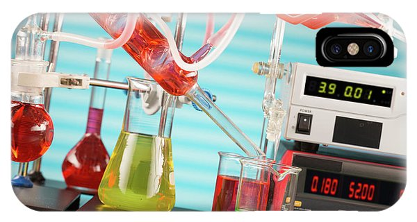 Synthesis iPhone Case - Chemistry Experiment In Lab by Wladimir Bulgar