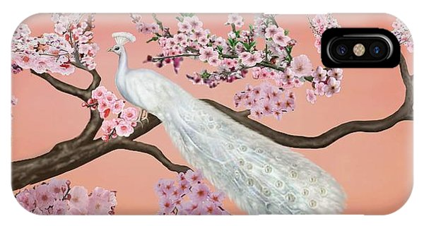 Cherry Blossom Peacock IPhone Case