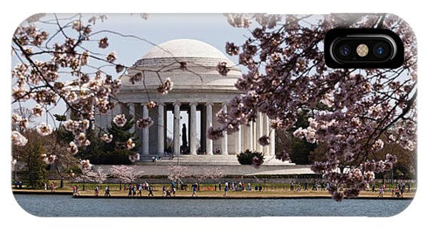 Tidal iPhone Case - Cherry Blossom Trees In The Tidal Basin by Panoramic Images