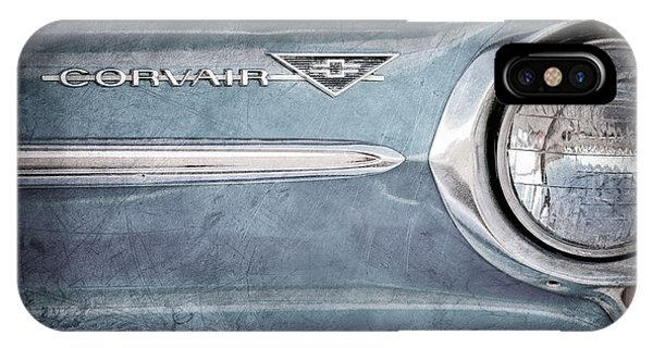 Corvair iPhone Case - Chevrolet Corvair Emblem by Jill Reger