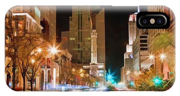 Avenue iPhone Case - Chicago Michigan Avenue Light Streak by Christopher Arndt