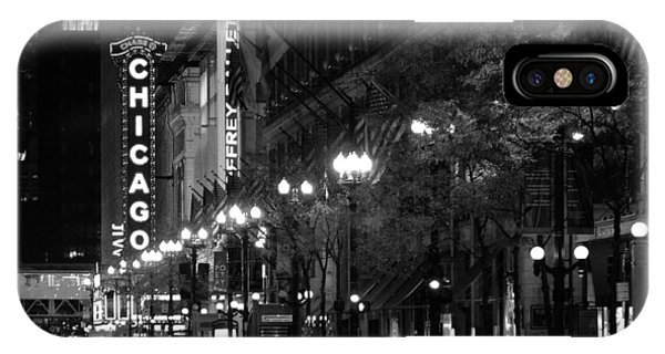 Chicago Theatre At Night IPhone Case