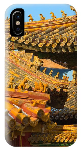 Forbidden City iPhone Case - China Forbidden City Roof Decoration by Sebastian Musial