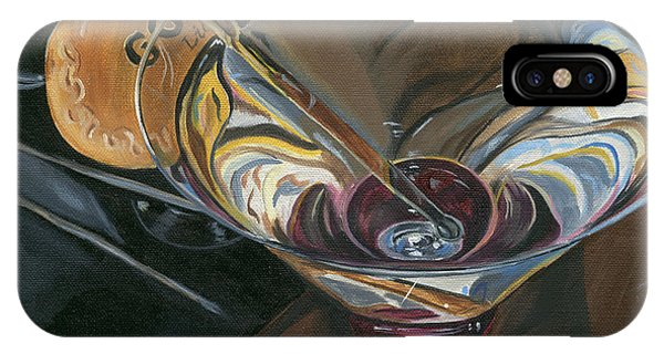 Cocktail iPhone Case - Chocolate Martini by Debbie DeWitt