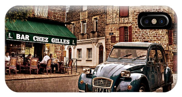 IPhone Case featuring the photograph Citroen 2cv In French Village / Meyssac by Barry O Carroll