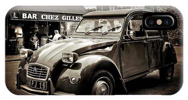 IPhone Case featuring the photograph Citroen 2cv / Meyssac by Barry O Carroll