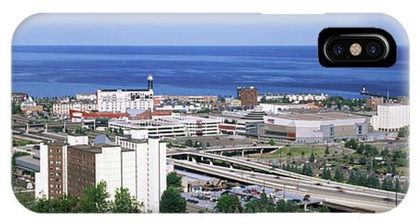 Lake Superior iPhone Case - City At The Waterfront, Lake Superior by Panoramic Images