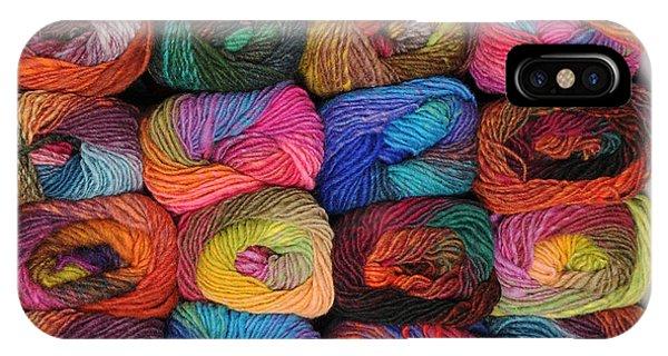 Colorful Knitting Yarn IPhone Case