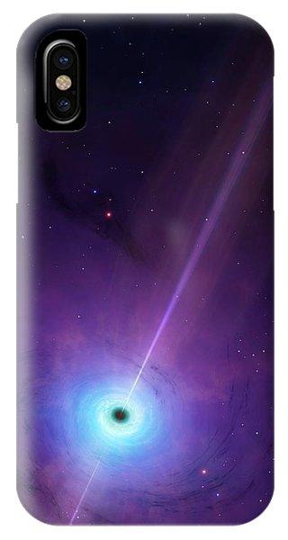 Computer Artwork Of Black Hole IPhone Case