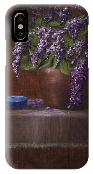 Copper Vase And Lilacs IPhone Case