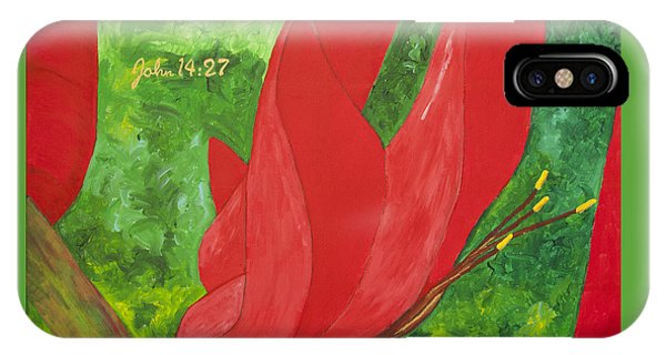 Coral Bean Tree IPhone Case