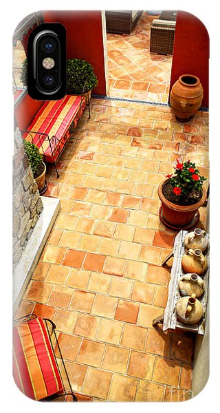French Riviera iPhone Case - Courtyard Of A Villa by Elena Elisseeva