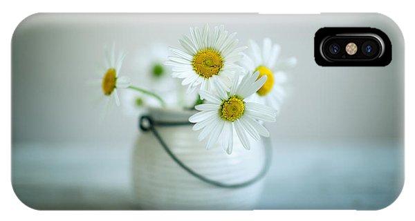 Daisy iPhone X Case - Daisy Flowers by Nailia Schwarz