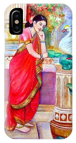 Damayanthi And The Swan Phone Case by Banu's Art work