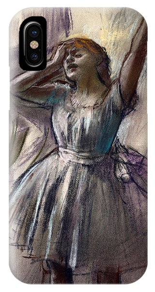 Impressionistic iPhone Case - Dancer Stretching by Edgar Degas