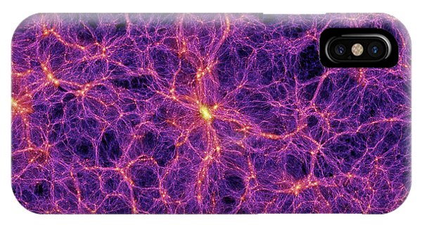Dark Matter Distribution Phone Case by Volker Springelmax Planck Institute For Astrophysics