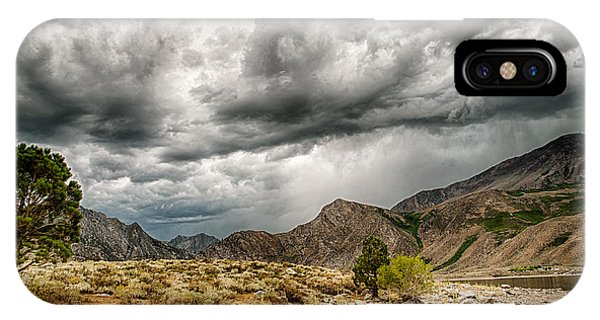 Dark Skies At Grant Lake IPhone Case
