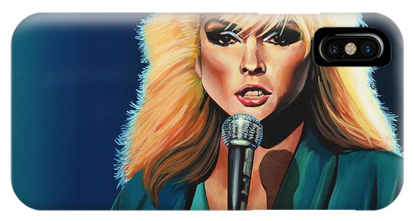 Atomic iPhone Case - Deborah Harry Or Blondie Painting by Paul Meijering