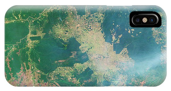 Deforestation In The Amazon Phone Case by Nasa Earth Observatory