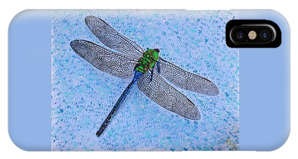 IPhone Case featuring the painting Dragonfly by Deborah Boyd