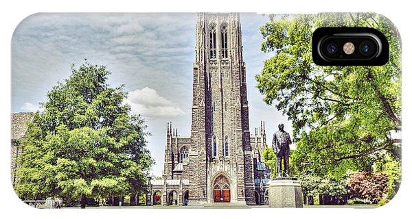 Chapel iPhone Case - Duke Chapel In Spring by Emily Kay