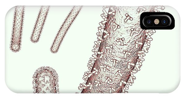 Virus iPhone Case - Ebola Virus Particles by Russell Kightley