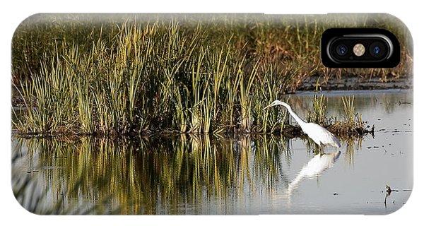 Horicon Marsh iPhone Case - Egret by Steven Ralser