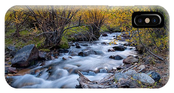 River iPhone Case - Fall At Big Pine Creek by Cat Connor