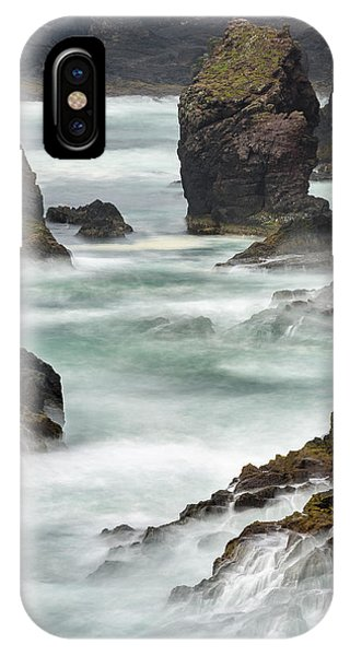 Basalt iPhone Case - Famous Cliffs And Sea Stacks Of Esha by Martin Zwick