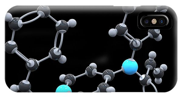 Fentanyl Drug Molecule Phone Case by Alfred Pasieka/science Photo Library