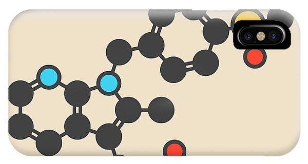 Fevipiprant Asthma Drug Molecule Phone Case by Molekuul/science Photo Library