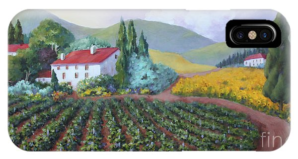 Fields Of Tuscany IPhone Case
