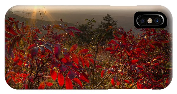 Chilhowee iPhone Case - Fire On The Mountain by Debra and Dave Vanderlaan