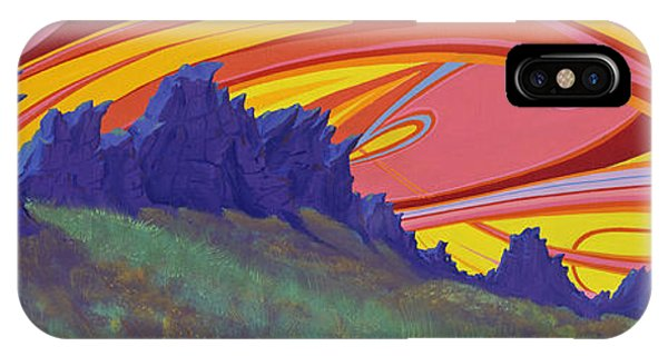Fire Sky Over Devil's Backbone IPhone Case