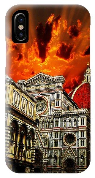Firenze La Cattedrale Di Santa Maria Del Fiore - Florence The Cathedral Of Santa Maria Del Fiore IPhone Case