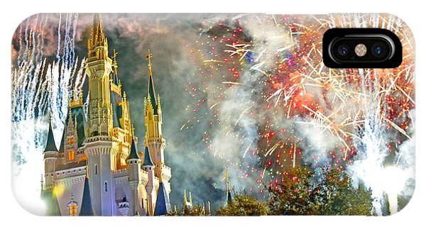 Fireworks Cinderellas Castle Walt Disney World IPhone Case