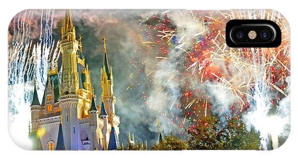 Fireworks Cinderellas Castle Walt Disney World IPhone Case
