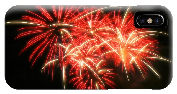 Fireworks Over Kauffman Stadium IPhone Case