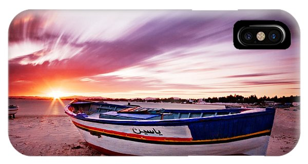 Fishing Boat At Sunset / Tunisia IPhone Case