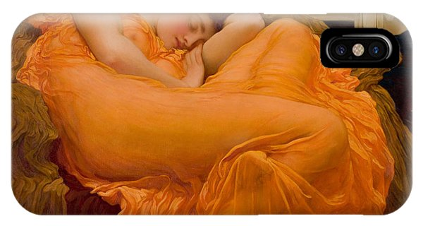 IPhone Case featuring the painting Flaming June by Frederick Leighton
