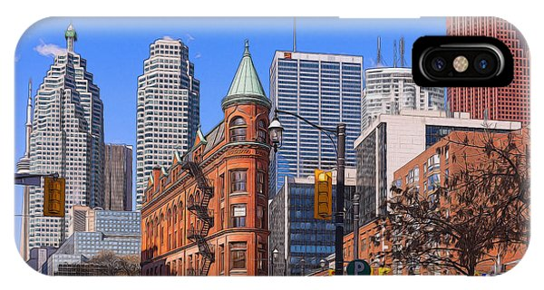 Flatiron Building In Toronto IPhone Case