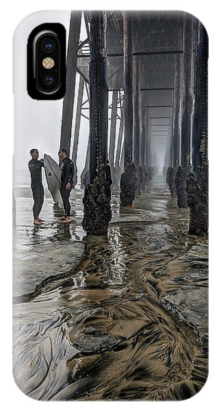 iPhone Case - Fog At The Pier by Ann Patterson