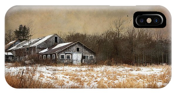 New England Barn iPhone Case - Forlorn by Robin-Lee Vieira