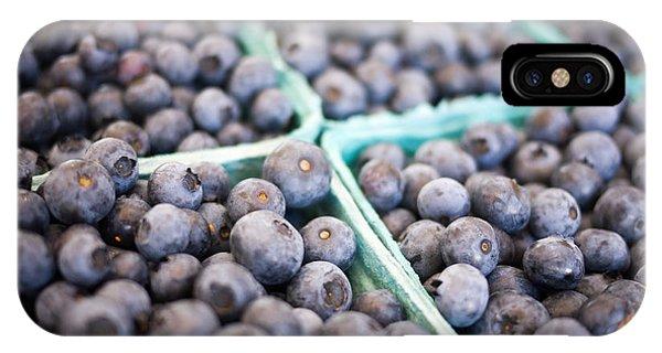 Blue Berry iPhone Case - Fresh Blueberries by Edward Fielding
