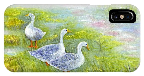 Geese At Sunset IPhone Case