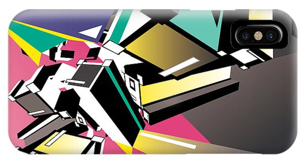 Geometric Colorful Design Abstract Phone Case by Singpentinkhappy