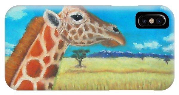 Giraffe Dreaming IPhone Case