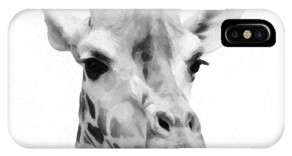 Giraffe On White Background  IPhone Case