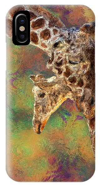 Digital Effect iPhone Case - Giraffes - Happened At The Zoo by Jack Zulli